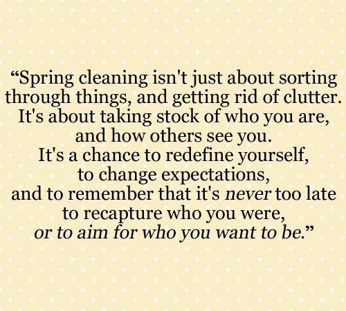 The REAL Spring Cleaning Checklist