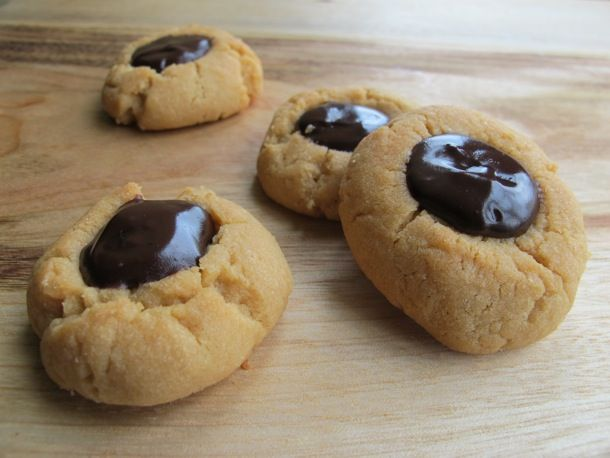 Watkins Recipe - You Got Chocolate in my Peanut Butter Thumbprint Cookies